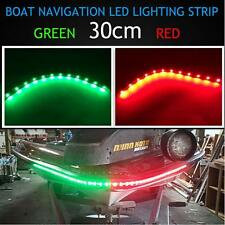 "12"" Bow LED RED GREEN Waterproof Navigation Light Strips Kayak Marine Boat 12V"