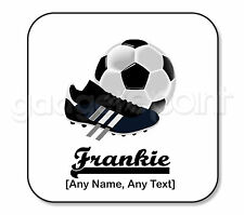 Personalised Gift Football Coaster Boots Sport Referee Training Coach - Square