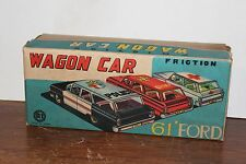 NICE 1961 FORD EMERGENCY WAGON FRICTION POWERED ORIGINAL BOX