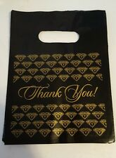 "Black/gold ""Thank You"" jewelry bags, 25, 7"", stores, vendors, direct sales"