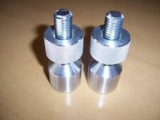 "Two Hole Pins. Small. Aluminum.1/2""X 1-1/8"" Knurled with removable threads."