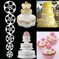 New 6pcs Fondant Mold Cake Sugarcraft Rose Flower Decor Cookie Gum Paste Cutter