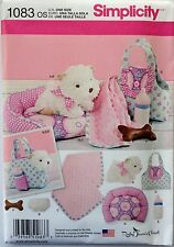 SIMPLICITY SEWING PATTERN 1083 Stuffed Animal  PUPPY and Accessories Clothes