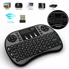 With BACKLIGHT Rii Mini i8+ Wireless Keyboard  for Smart TV PC Android TV