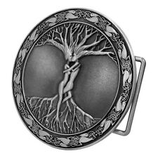 Buckle Rage Tree of Life Forest Celtic Belt Buckle Silver