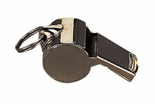GI Style Silver Plated Whistle With Lanyard - Security, Safety, Coach