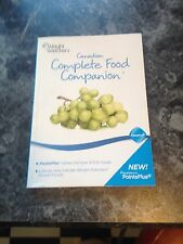 WEIGHT WATCHERS CANADIAN COMPLETE FOOD COMPANION 2011 NEW