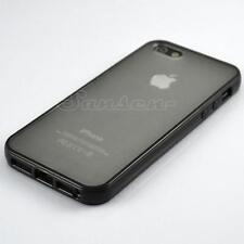 Black Bumper With Matte Clear Back Hard Case Cover Skin for Apple iPhone 5 5S SE
