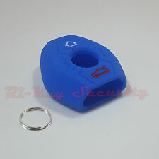 Blue Protective Rubber Case Silicone Cover Skin Jacket Fit BMW Remote Key