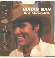 ELVIS PRESLEY--PICTURE SLEEVE + 45---(GUITAR MAN)---PS---PIC---SLV