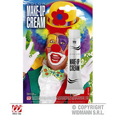 NEW Clown White Make Up Cream Tube,Makeup,Carnival Halloween Fancy Dress