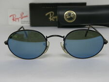 Vintage B&L Ray Ban Classic Collection 1 Oval Black Blue Mirror W2468 Sunglasses