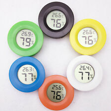 Round Mini Digital LCD Thermometer Humidity Hygrometer Temperature Meter Indoor