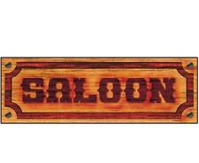 Wild West Saloon Sign Party Cowboy Decoration Partyware Western Bar Giant Banner