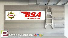 BSA motociclo WORKSHOP GARAGE Banner GOLDSTAR, B40, B50, C15, ROCKET 3, BANTAM
