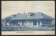 Postcard TULSA Oklahoma/OK  Newly Built Frisco Railroad Train Depot Station 1907