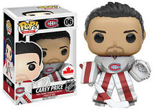 Funko NHL CAREY PRICE HABS Canada WHITE AWAY JERSEY Exclusive Pop Figure STOCK
