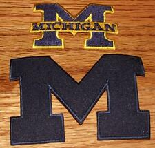 2 Different NEW University of Michigan UM Wolverines Patches Iron-On Quality *R5