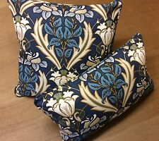 iliv Art Deco Acanthus Navy (William Morris Style) Square OR Oblong Cushion