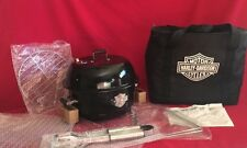 HARLEY DAVIDSON Motor Cycle Portable Travel Charcoal Grill W/Carrying Bag NOS