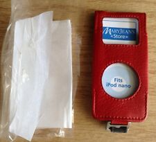 "*NEW*~""Red Genuine Leather Case""~Fits Apple iPodNano 1st(A1137) & 2nd(A1199) Gen"