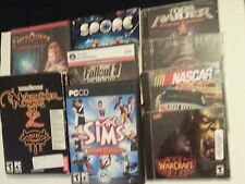 9 PC games 4 factory sealed 1 half sealed 4 used
