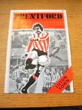 14/09/1976 Kent Cup Final: Brentford v Luton Town  (Creased, Number Noted On Cov