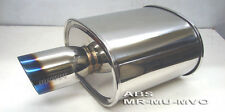 Megan Racing Universal Muffler rolled titanium tip 2.5 ID MR-MU-MVO New