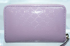 Gucci Women's Purple Wallet Zip Around Card Case Vernice Microgucc Leather NWT