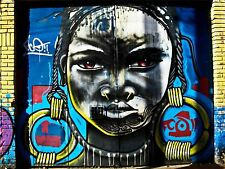 ART PRINT POSTER PHOTO GRAFFITI MURAL STREET AFRICAN EARRINGS NOFL0134