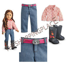 NEW AMERICAN GIRL DOLL SAIGE HORSE BACK RIDING PARADE OUTFIT BOOTS SHIRT PANTS