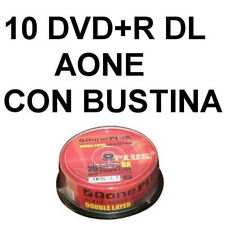 10 DVD+R DL DUAL LAYER 8,5 GB AONE GOLDEN EDITION 8,5GB VERGINI VUOTI CN BUSTINE
