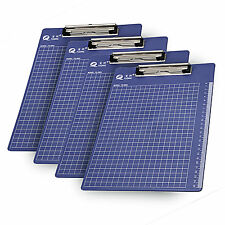 5PCS Blue A4 File Paper Clip Writing Board Document Clipboard Office Supplies