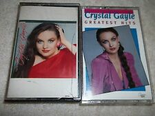Crystal Gayle Two Different Cassette Tape Music Lot