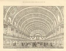 1887 THE QUEENS HALL PEOPLES PALACE EAST LONDON INTERIOR