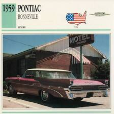 1959 PONTIAC BONNEVILLE Classic Car Photograph / Information Maxi Card