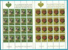 Liechtenstein aus 1980 ** postfrisch Kleinbogen MiNr.747-749 Albwirtschaftsgerät