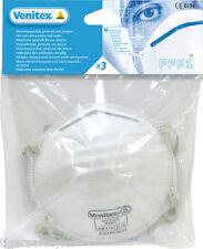 DELTA Plus Venitex m3fp1 FFP1 P1 MONOUSO Respiratore Viso Maschere antipolvere confezione da 3