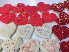 HOME MADE ICED VALENTINE'S DAY HEART SHAPPED  SUGAR COOKIES by NEEDFULL THINGS