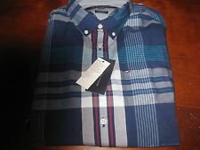 NWT MENS TOMMY HILFIGER CASUAL LONG SLEEVE BUTTON DOWN SHIRT MEDIUM M