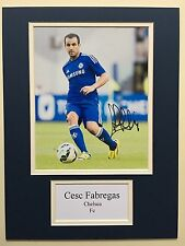 "Chelsea Cesc Fabregas Signed 16"" X 12"" Double Mounted Display"