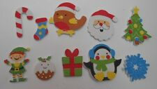 PK 10 SELF ADHESIVE MIXED FOAM XMAS EMBELLISHMENTS FOR CARDS AND CRAFTS