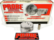 Probe 12334-040 SBC Chevy 350 Forged 5.7 Rod Flat Top Pistons .040 Over Bore