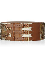 Alexander McQueen Dress Wide sequined leather waist belt