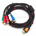 1.5M HDMI Male to 5 RCA Audio Video 1080P Converter AV Adapter Cable RGB
