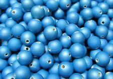 20 perles MAGIQUE SATIN AQUA 10mm