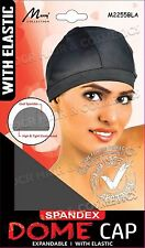 NEW MURRY Womens Spandex Dome Cap WITH WIDE ELASTIC Material #2255BLK