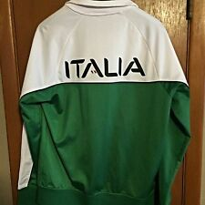 Fila Sport M Mens Track Jacket Italia Full Zip Athletic Running Soccer Italian
