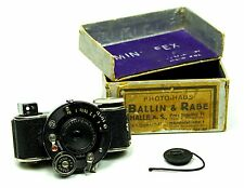 Rare Fotofex Kameras Minifex 16mm Subminiature Camera Germany c1932 w Box Instr.