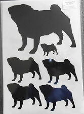 Pug vinyl stickers/ car decals/ window decals